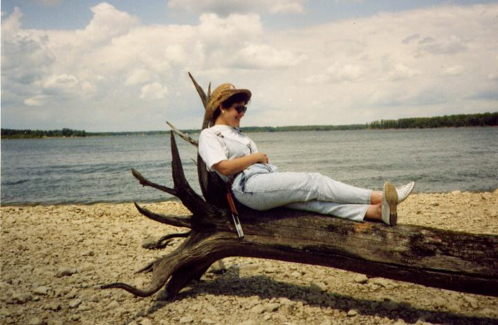 Laurel Jean Resting On Driftwood