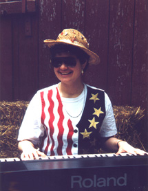 Laurel Jean at keyboard